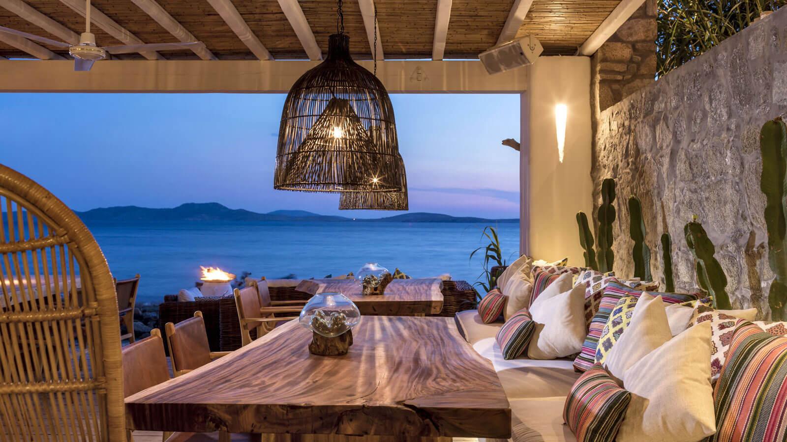 Hippie Fish Restaurants In Mykonos Splendid Mykonos